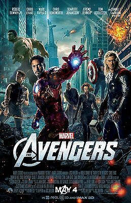 THE AVENGERS poster : CAPTAIN AMERICA, IRON MAN, HULK, THOR : 11 x 17 inches