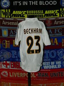 5-5-Real-Madrid-boys-14-years-164cm-2004-23-Beckham-MINT-football-shirt-jersey