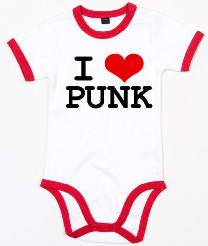 I LOVE punk ringer Baby Body blanc//rouge