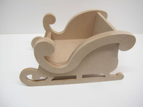 Wooden 3D Christmas Sleigh Premium Quality 200mm Long 6mm Thick