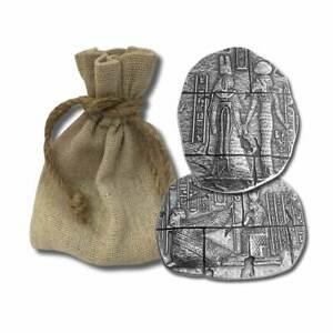 In a Cloth Bag .999 Fine Silver Bar Egyptian Horus Relic Bar New 3 oz