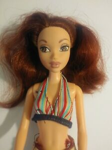 Barbie Doll My Scene Chelsea Auburn Hair Brown Eyes Pink Lips Clothes Shoes 1999