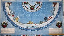 Winter's Eve Village Christmas Tree Skirt Fabric  TWO Panels   #5383