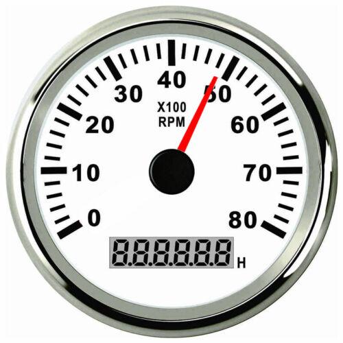 8000 RPM Tachometer Auto Bootsanzeige für Boot Marine Yacht Gas Oder Dieselmotor