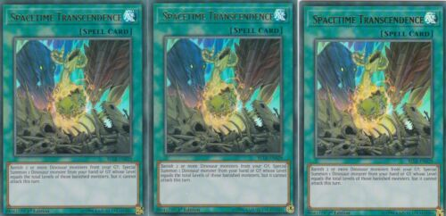 YUGIOH CARD 3 X SPACETIME TRANSCENDENCE BLLR-EN029 ULTRA