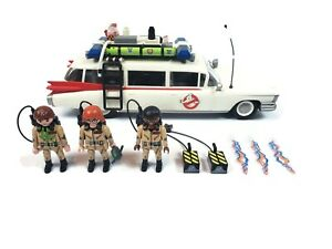 Playmobil-Ghostbusters-Ecto-1-with-Janine-amp-Zeddemore-NOT-COMPLETE-PARTS-ONLY