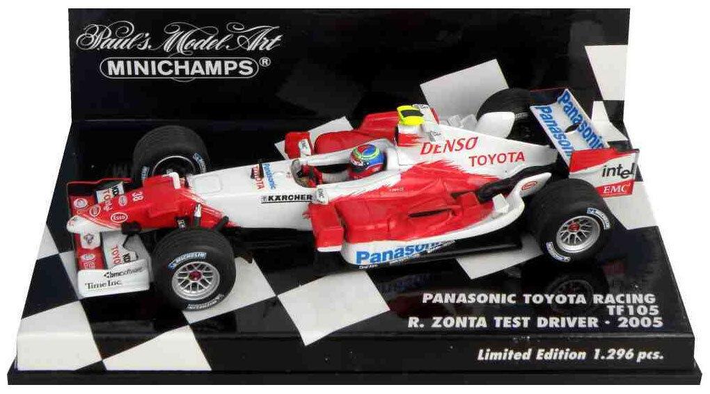 Minichamps Toyota TF105 2005 - Ricardo Zonta Test Driver 2005 1 43 Scale