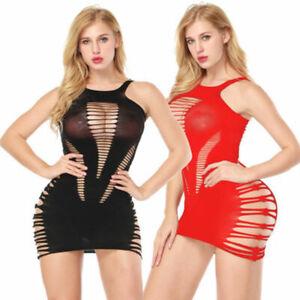 Womens Sexy Lingerie Lace Black Dress G-string Underwear Babydoll Sleepwear Sets