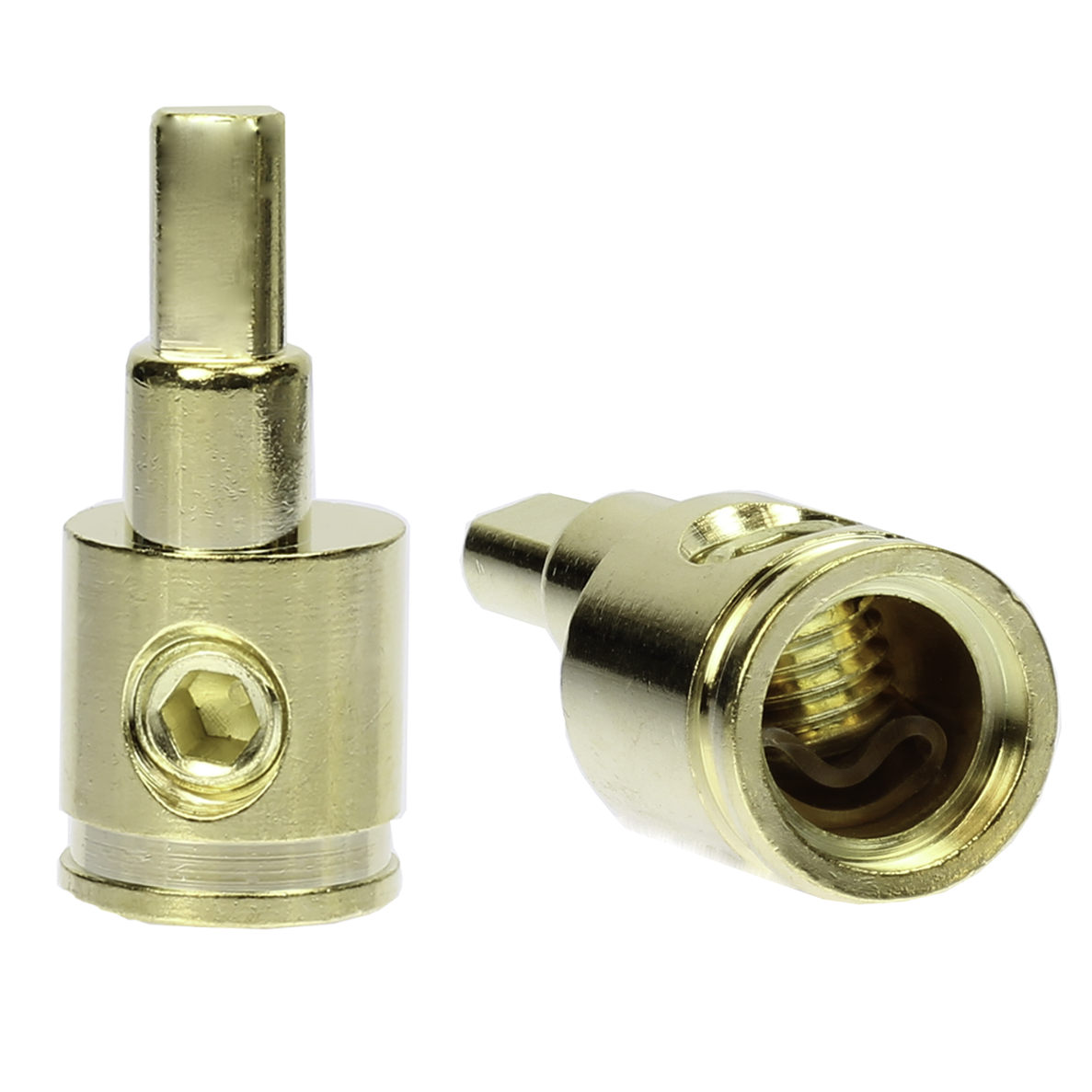 Freajoin Dual 0//2//4 Gauge to 0//2//4 Gauge Amp Input Reducers Copper Alloy Gold 1 Pair