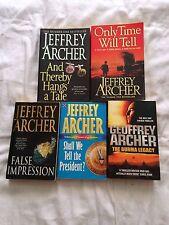 5 x Jeffrey Archer Book Bundle Impression, Legacy, President, Time Paperbacks