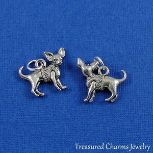 Silver-Chihuahua-Puppy-Dog-Charm-Pendant-NEW