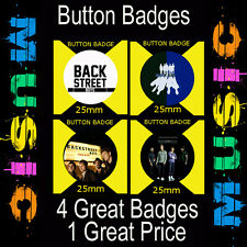 "BACKSTREET BOYS - 4 GREAT BUTTON BADGES - 25mm -1""  CD4532"