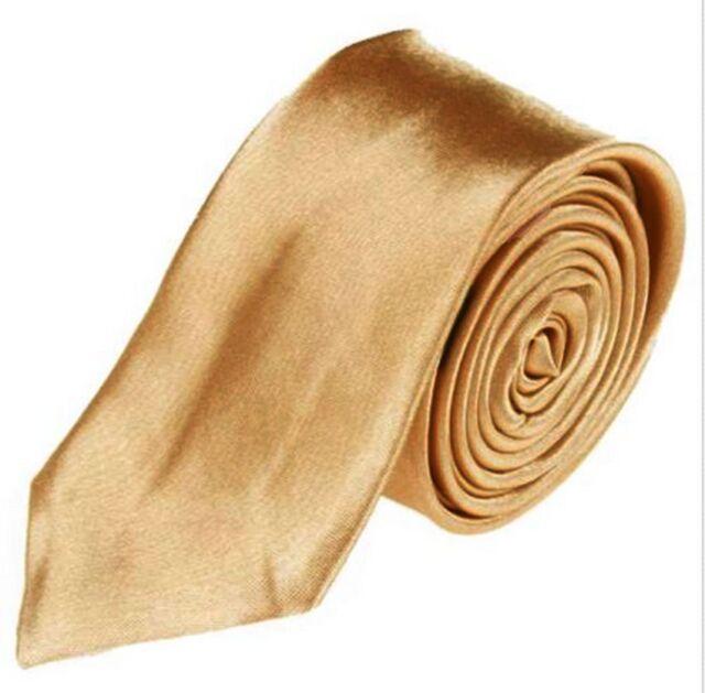 New Men's Solid Color Plain Silk Narrow Arrow Necktie Skinny Tie Neckwear 2014 E