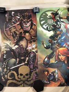 Loot-Crate-Exclusive-MARVEL-Agents-of-Shield-amp-Hydra-Art-Prints-Both-24-034-x12-034