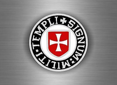Autocollant sticker templier croisades templar crussader knights chevalier frPO