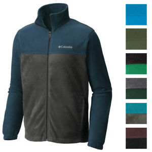 Columbia NEW Men's Colorblock Full Zipper Mock Neck Fleece Winter Jacket