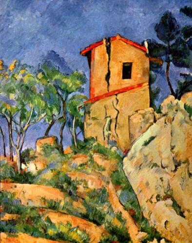 ZEIT4BILD Paul Cezanne Haus mit den geborstenen Wänden BILDER LEINWAND KUNST ART