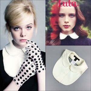 RARE-Louis-Vuitton-Ladies-Runway-White-Peter-Pan-Collar-for-Sweater-Pullover-Top