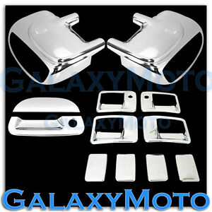 Ford-F250-F350-F450-Chrome-Mirror-W-Light-4-Door-Handle-w-KH-Tailgate-Cover