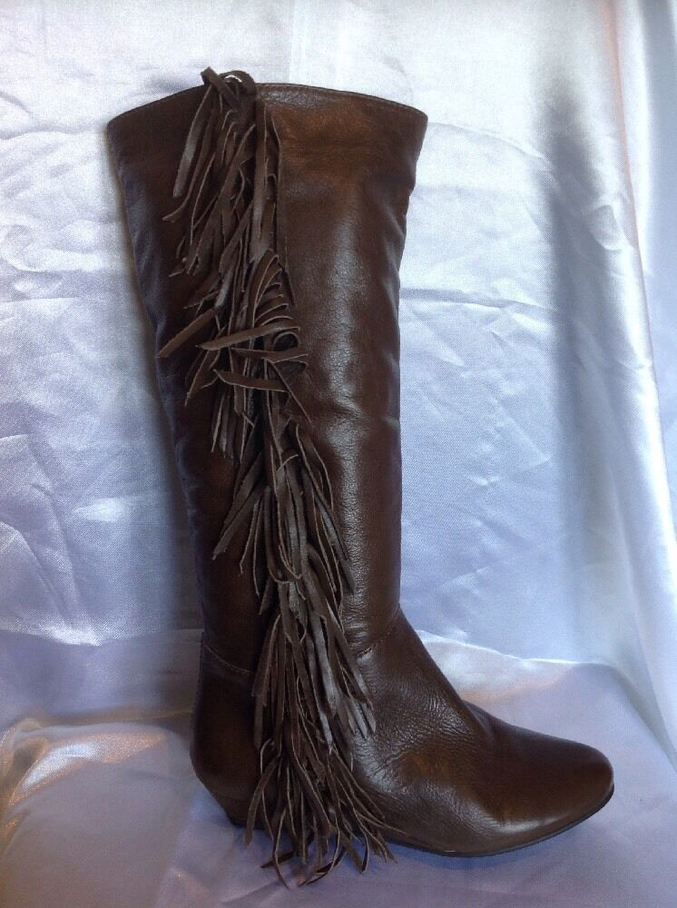 Carvela Brown Knee High Leather Boots Size 36