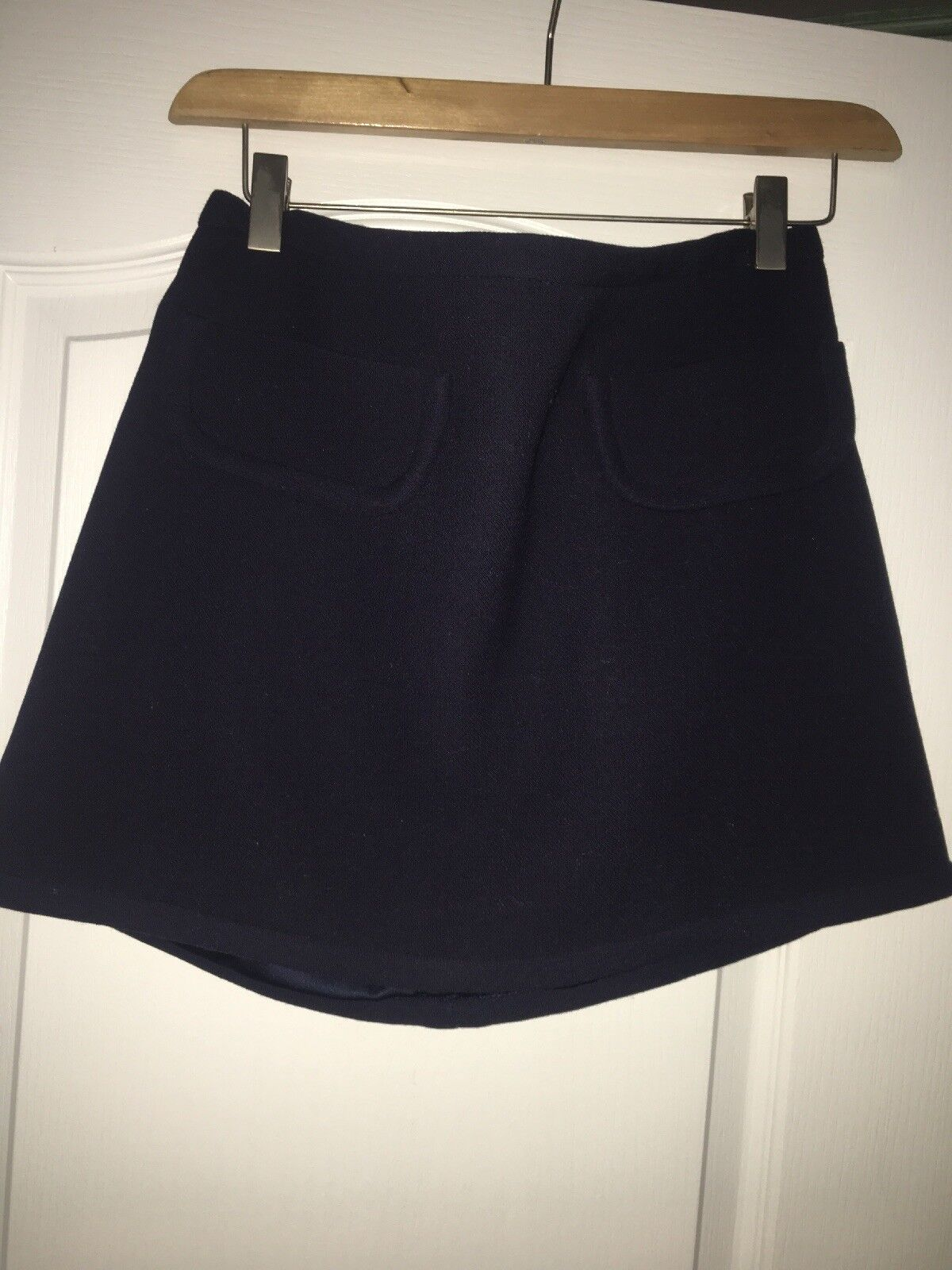 NEW WITH TAGS  595 Size 6 Marc Jacobs Navy Mini Skirt 100% WOOL