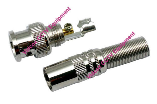 New 20pcs Twist Spring CCTV BNC Male Coaxial RG59 Connector Plug for CCTV Camera