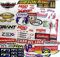 Grab Bag Large Lot Of 25 Racing Decals Stickers Drag Race Nhra Nascar