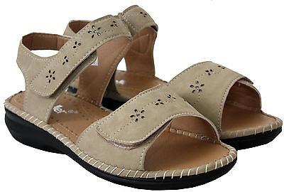 Nuevo Para mujeres Damas Charol Tacto Correa Zapatos Sandalias Planas De Verano Comodidad Informal