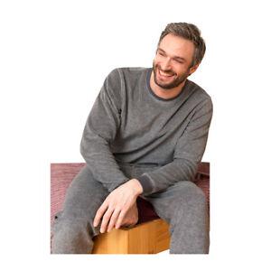 8ffe901e59a2b Das Bild wird geladen Living-Crafts-Herren-Schlafanzug-Frottee-Bio-Baumwolle