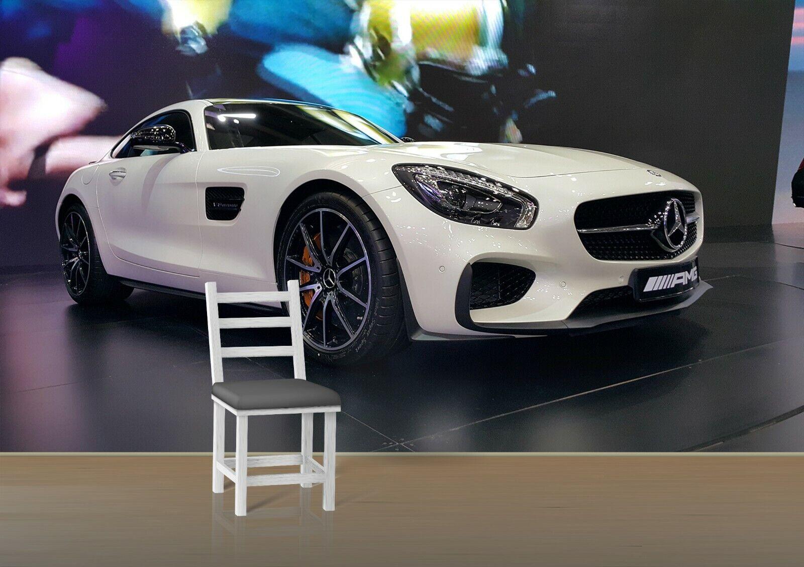 3D Mercedes Sports Car I26 Transport WandPapier Mural Sefl-adhesive Removable An