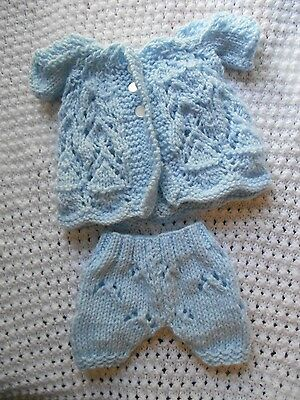 "Doll Clothes Blue Matinee Set Fit 12"" Corolle, Am.Charac. 11"" to 12"" Tiny Tears"