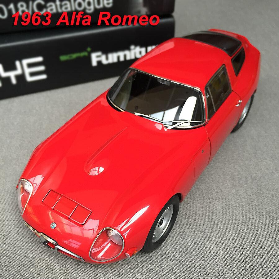 Alfa Romeo Models >> Autoart Model 1963 Alfa Romeo Tz Diecast Car Model In 1 18 Scale Red New In Box
