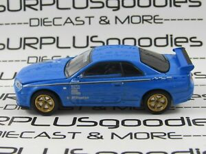 Greenlight-1-64-LOOSE-Collectible-Blue-2001-NISSAN-SKYLINE-GT-R-R34-BNR34