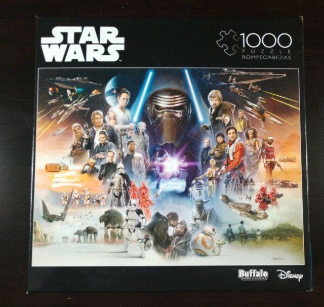 Disney Star Wars 1000 Piece Buffalo Games Puzzle Sequel Trilogy Rare & HTF