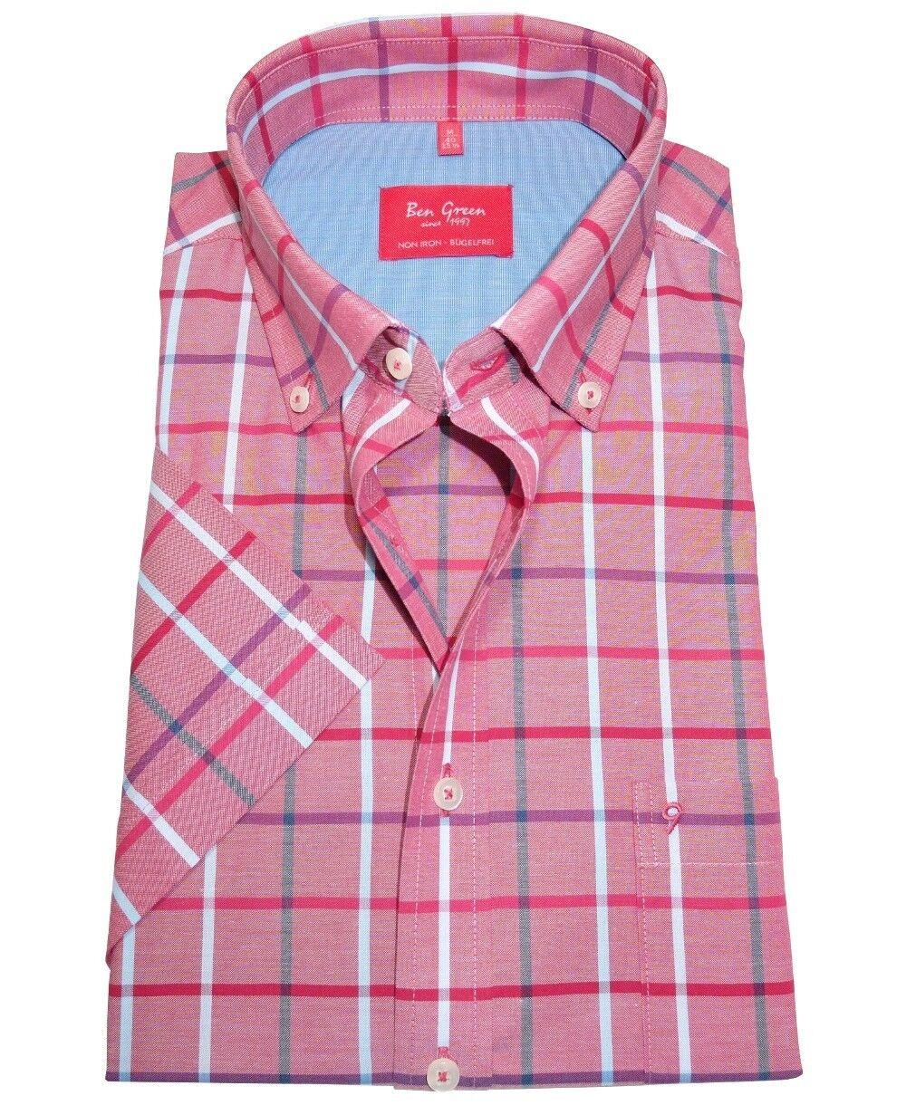 Ben Grün rotline Regular Fit Kurzarm KARO rot beere blau Gr. 40 - 48 bügelfrei | Reparieren  | Shop  | Verschiedene Arten Und Die Styles