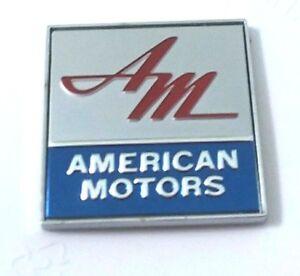 Amc American Motors Logo Rear Deck Emblem 1969 Newly Produced Ebay