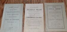 3 1800s Town Of Cheshire CT 2- Annual Reports 1878 & 1899 1- PROGRAM FROM 1889