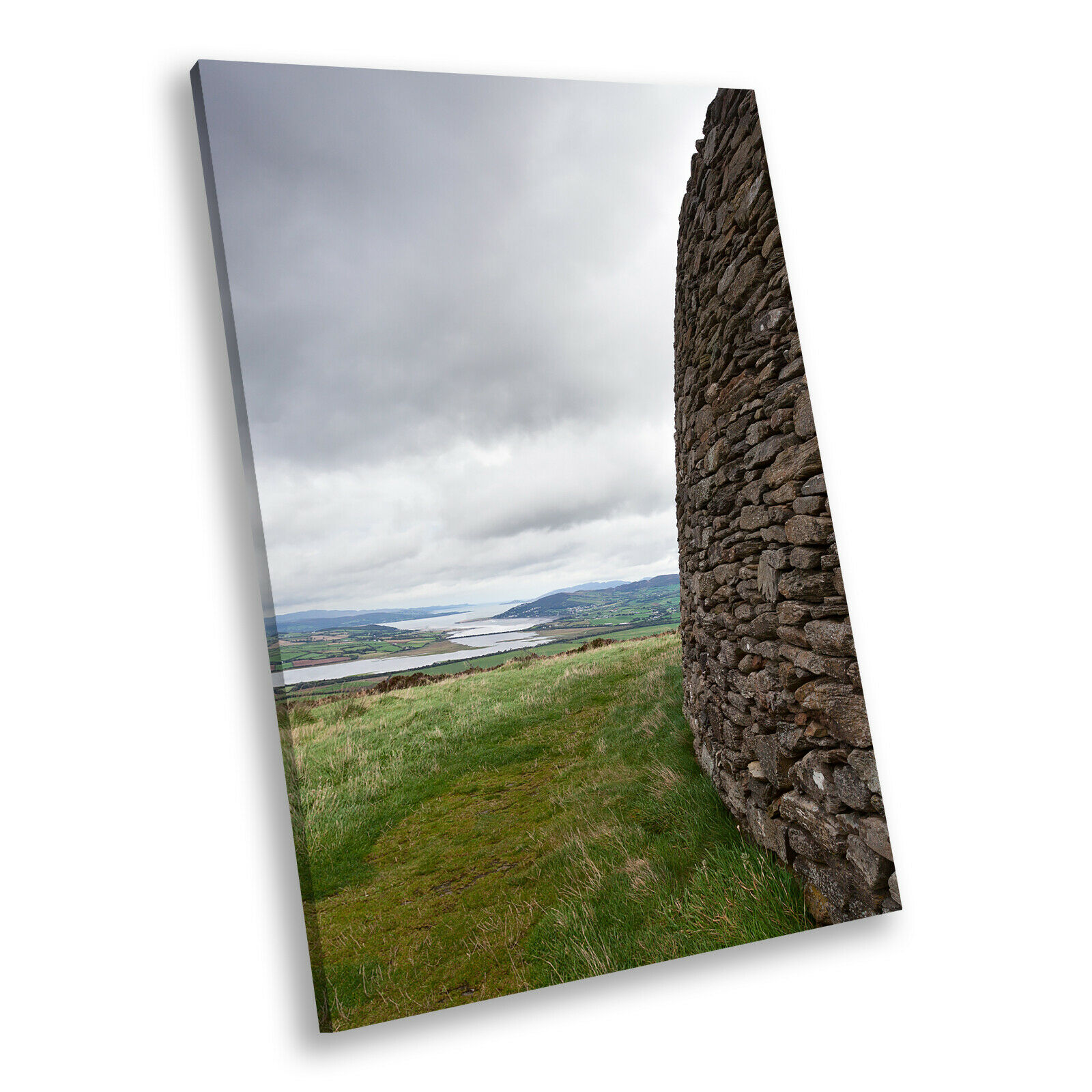Grün grau Stone Ireland Portrait Scenic Canvas Wall Art Large Picture Prints