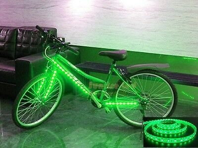 bike bicycle led strip 1M 3ft green light battery box to car scooter led B1G