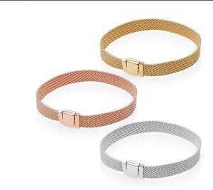Bracciale-Reflexions-Argento-925-Colore-Oro-Argento-Oro-Rosa-Tipo-Simil-Pandora