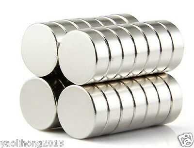 10pcs Strong Round 15mm x 6mm Magnets Disc Rare Earth Neodymium N50