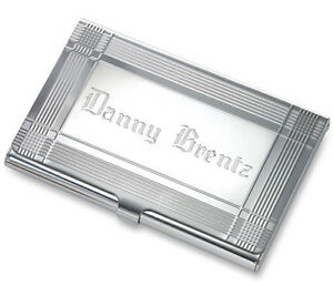 image is loading personalized silver business card holder credit card case - Silver Business Card Holder