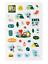 miniature 5 - Official BTS BT21 Green Planet Clear Sticker +Freebie +Free Tracking KPOP