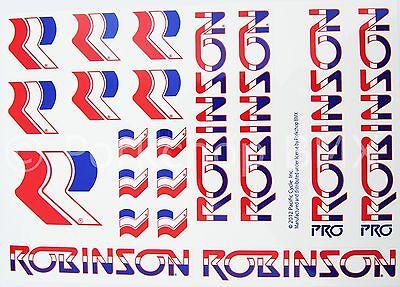 1987-90 Robinson Pro Team Model decal set chrome// black