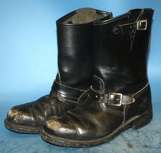 Men's Shoes Mens Unbranded Motorcycle Riding Dark Brown Boots Size 9.5 D