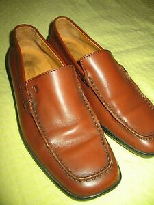 Tod-039-s-Brown-Full-Grain-Leather-Loafers-Italy-Flat-Heel-Shoes-Women-36-EUR-6-US