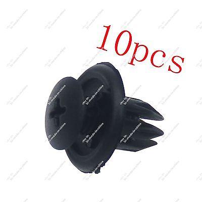10pcs Car 10mm Hole Clip Plastic Push Rivet Retainer Fastener Bumper Hood Fender