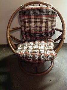 Charmant Details About VINTAGE 60u0027s RATTAN PAPASAN SWIVEL CHAIR, ORIGINAL CUSHION,  MADE IN THE USA!!
