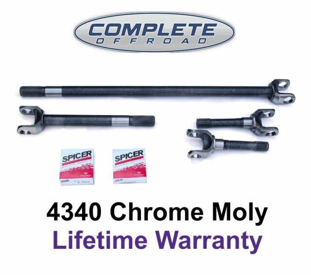 Yukon Gear /& Axle YA W24118 Replacement Axle Kit for Chevy Blazer//GM 1//2 Ton Truck Differential 4340 Chrome-Moly
