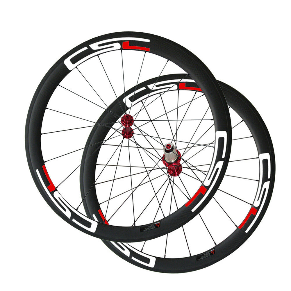 CSC wheelset 50mm Clincher carbon road wheels R13 hub  23mm,25mm,27.5mm